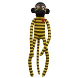 Ruffy Brown and Gold White Stripe Sock Monkey