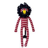 Nuka Red and White Stripe Sock Lion
