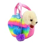 Golden Retriever Fluffy Rainbow Bag - Fancy Pals