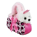 Princess Dog in Pink Leopard Bag - Fancy Pals