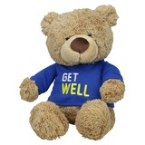Get Well Boy Cream teddy bear soft plush toy