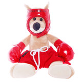 Boxing Kangaroo Red Small - Teddy & Friends