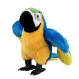 Macaw Parrot Posed In Flight Plush Toy