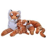 Jumbo Mum and Baby Tiger Soft Toy