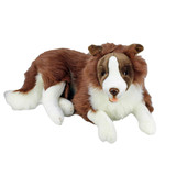 Fudge the Extra Large Brown Border Collie Plush Toy