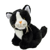 Cat Black and White Sitting Trim - Elka