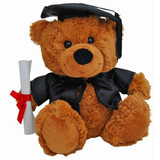 Graduation Teddy Bear Dressed teddy soft plush toy by Elka