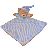 Bear Comforter Blankie Blue with rattle - Huggable