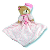 Bear Comforter Pink With Rattle - Huggable
